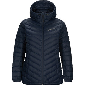 Peak Performance Frost Daunen Kapuzenjacke Damen blue shadow